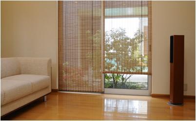 窓にさわやかな天然素材のロールアップスクリーン スモーク竹スクリーン 88cm×135cm 買い物 ブラウン 商品追加値下げ在庫復活 RC-1340S