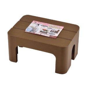 市場 正規逆輸入品 天板スペースが広く 安定感抜群の踏み台 腰掛 フラワースタンドとしても マルチステップ パール金属 ブラウン H-5516