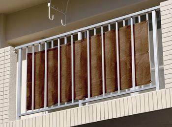 ベランダの落下防止 目隠しに 二村製簾 ◆高品質 ベランダシェード 80cm×180cm ベランダスクリーン ダークブラウン 直営ストア