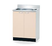 【企業宛送料無料】薄型高級流し台 幅60cm W600×460×800(890)mm BTC-60S 組み合わせキッチン