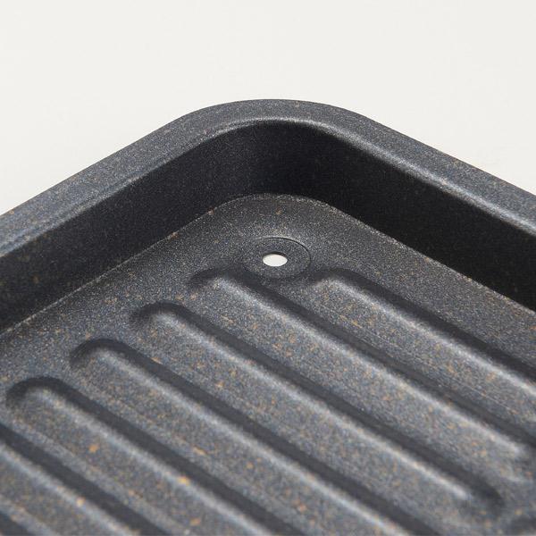 グリルパン グリル専用焼き魚トレーワイド マーブルコート 20×28cm ( 焼き魚トレイ 魚焼きトレー 魚焼きトレイ グリル用トレー グリル用トレイ 波型トレー 波型トレイ ガスグリル用 IHグリル用 キッチン用品 調理器具 調理用品 )