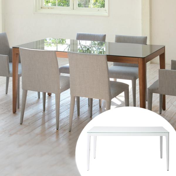 テーブル ダイニングテーブル 幅150cm WiTH ( 送料無料 ガラス天板 机 食卓 4人掛け ゆったり リビングテーブル デスク 木製 天然木 ガラステーブル ガラストップ 食卓テーブル 4人用 四人用 食卓 ダイニング )