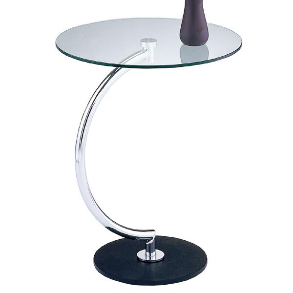 テーブル サイドテーブル ガラス天板 ブラス ( 送料無料 カフェテーブル コーヒーテーブル ナイトテーブル 机 サブテーブル ガラス製 ガラステーブル 丸型 円形 花台 電話台 )