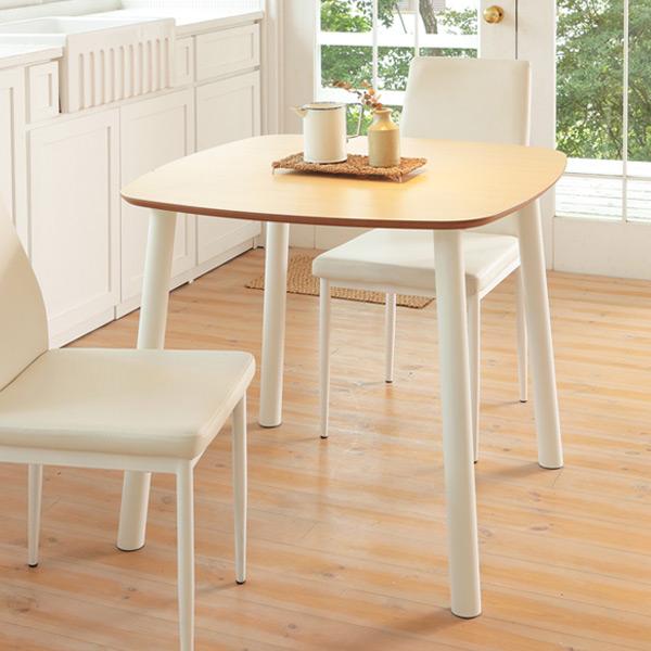 ダイニングテーブル 正方形 カジュアルスタイル BERRY 80cm角型 ( 送料無料 木目調 コーヒーテーブル ソファサイド テーブル リビングテーブル 二人用 二人掛け )