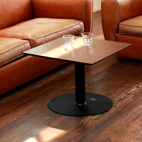 テーブル 正方形 カフェテーブル 継脚付 TURM 幅60cm ( 送料無料 机 リビングテーブル ローテーブル 高さ調節 センターテーブル つくえ コーヒーテーブル ソファテーブル )
