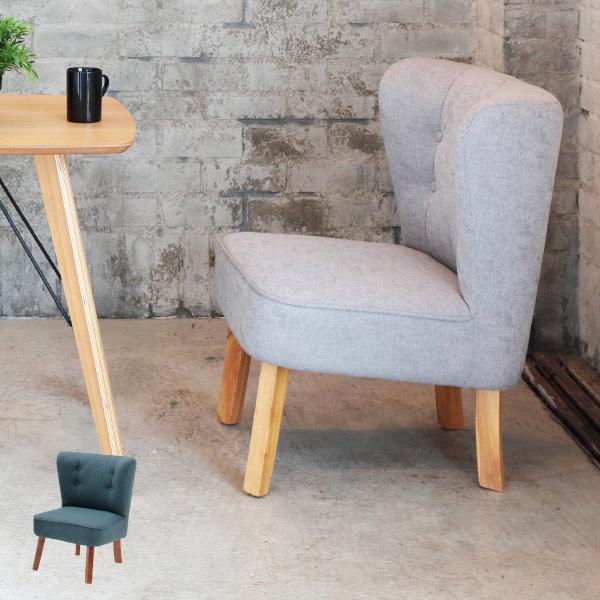リビングチェア ADELE 1人掛け ソファ 天然木 ( 送料無料 ソファー 一人用 一人掛け ひとり がけ 椅子 いす イス チェア ソファチェア ファブリック 布張り 製 シングル 幅 60 センチ 北欧 風 )