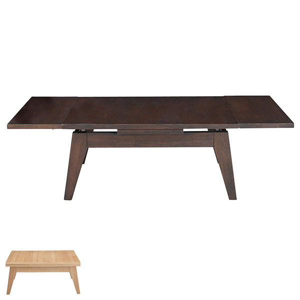 簡単な操作で天板が伸縮する、エクステンションテーブル。伸縮式 センターテーブル リビングテーブル ローテーブル 座卓 机 つくえ 伸縮式センターテーブル エクステンション 小 ( リビングテーブル ローテーブル 座卓 机 つくえ 送料無料 )
