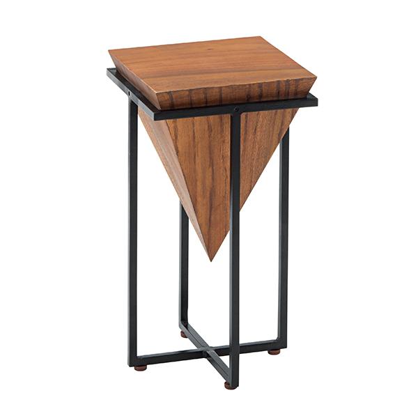 サイドテーブル 幅25cm テーブル 木製 天然木 モンキーポッド 角型 ( 送料無料 ソファテーブル ナイトテーブル ミニテーブル 机 ベッドサイドテーブル ソファーテーブル カフェテーブル おしゃれ 花台 完成品 )