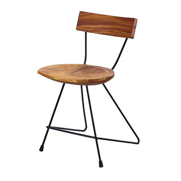 チェア 幅42cm ウッドチェア 椅子 木製 天然木 モンキーポッド ( 送料無料 イス いす チェアー リビングチェア デザインチェア ダイニングチェア デスクチェア オフィスチェア パソコンチェア おしゃれ 北欧 1人用 )
