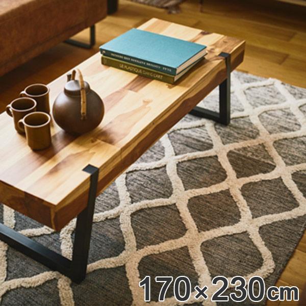 ラグ 幾何学模様 ラグマット 170×230cm ( 送料無料 カーペット 絨毯 マット コットン100% 肌に優しい 子ども お年寄り 天然素材 ホットカーペット対応 床暖対応 おしゃれ 北欧風 インテリアマット )