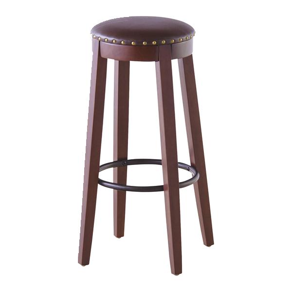 カウンタースツール 高さ70cm スツール ソフトレザー 木製 天然木 椅子 イス チェア ハイスツール 円形 丸型 ( 送料無料 チェアー いす カウンターチェア 丸椅子 木製チェア ハイチェア おしゃれ キッチン バーチェア フットレスト )