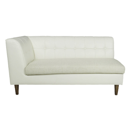 Ribe Sofa With Arm Rest Left Hand Two Seat Chair Single Leather Like Piece Elbow P25jan15