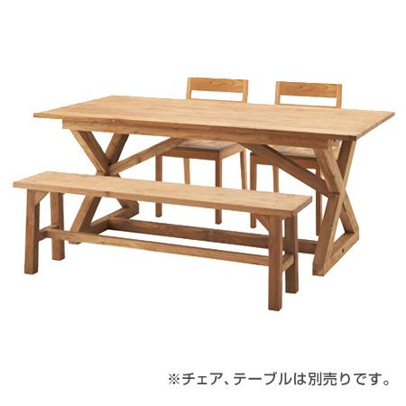 ダイニングベンチ ビビア ( 送料無料 ダイニングチェア チェアー 椅子 イス チェア 2人掛け ナチュラル カントリー テイスト 木製 )