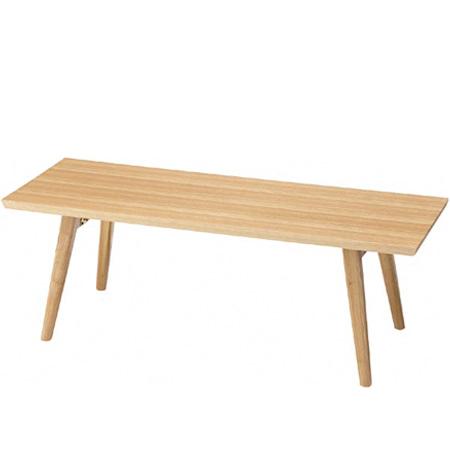 折れ脚テーブル エダ アッシュ材 幅105cm ( 送料無料 折りたたみ センターテーブル ローテーブル ナチュラル 机 座卓 スリム型 )
