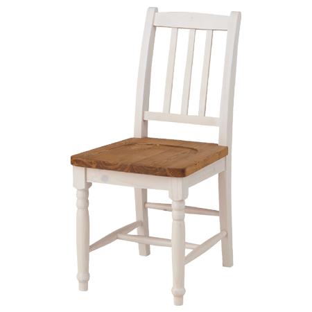ダイニングチェア 椅子 ミディ シャビー調 天然木製 オイル仕上 ( 送料無料 ナチュラル フレンチカントリー チェアー いす シャビーシック 素朴 ホワイト )