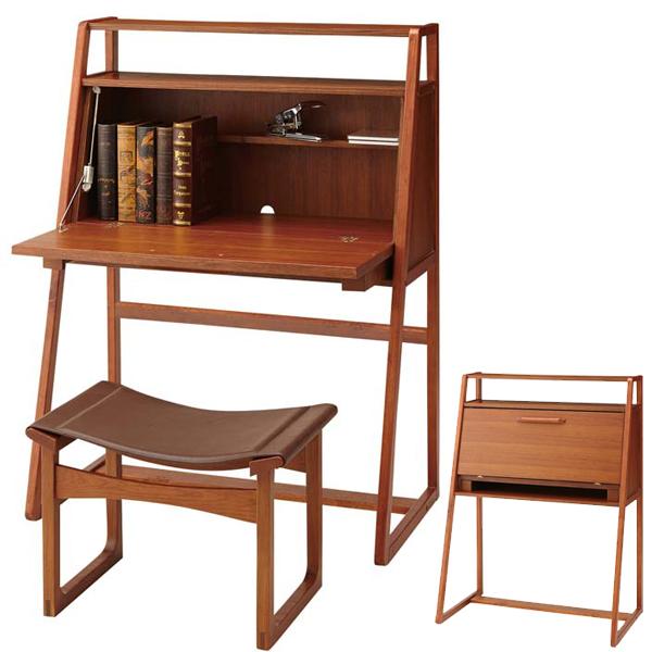 Stock Limit Arrivalless Writing Bureau Nordinah Tree 90cm In Width Desk Desk Work Desk Study Desk Pc Desk Natural North Europe