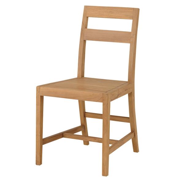 ダイニングチェア 椅子 エーク 天然木 チーク材 座面高44cm ( 送料無料 チェア ダイニングチェアー チェアー 木製 イス いす ナチュラル )