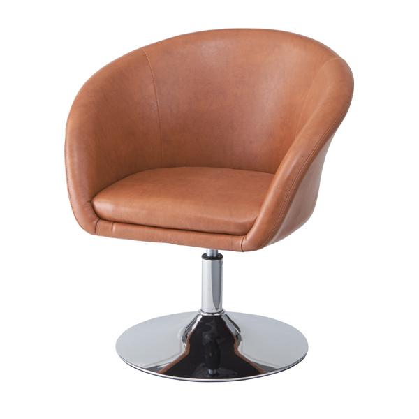 ラウンジチェア 椅子 ソフトレザー 座面高39cm ( 送料無料 チェアー パーソナルチェア クラシック チェア イス ソファ ラウンジソファ チェアソファ 合成皮革 レザー風 ヴィンテージ風 )