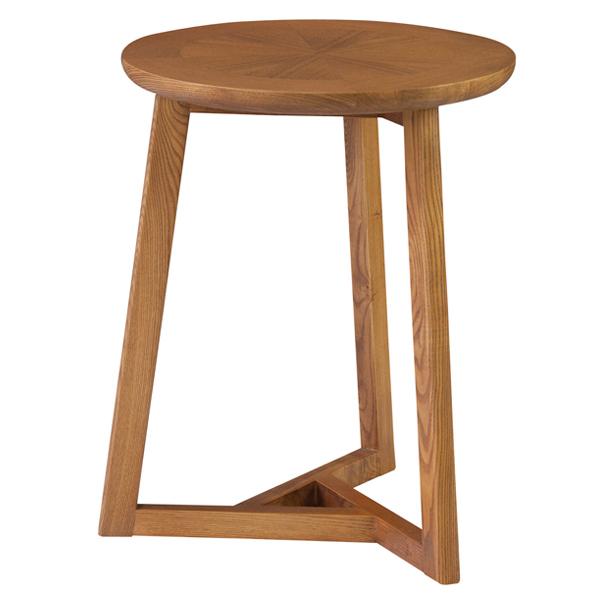 サイドテーブル 丸型 フレック 天然木 アッシュ材 直径40cm ( 送料無料 テーブル 机 つくえ ナイトテーブル カフェテーブル 丸 円 円型 個性的 かわいい おしゃれ 模様付き )