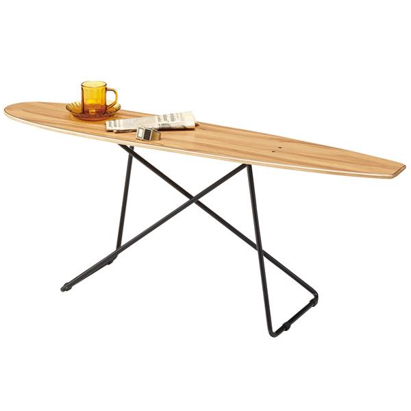 テーブル スケートボード風 ( 送料無料 サイドテーブル ローテーブル コーヒーテーブル スケボー風 木製天板 スチールフレーム マニッシュ クール スタイリッシュ )