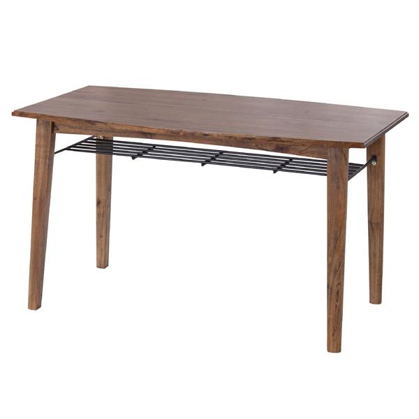 ダイニングテーブル 食卓 天然木 レトロ調 Timber 幅130cm ( 送料無料 ダイニング 食卓 机 リビングテーブル デスク 4人用 四人用 食卓 木製 )