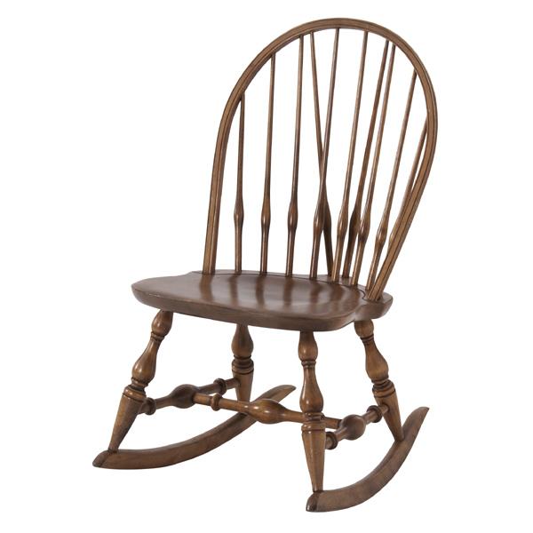 ロッキングチェア 天然木 ( 送料無料 チェア 椅子 いす イス チェアー ロッキングチェアー リラックス 肘かけなし )