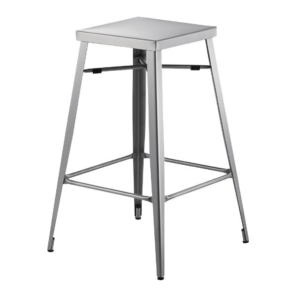 スツール ハイスツール ステンレス製 ( 送料無料 椅子 いす チェア ステンレス カウンタースツール 1人用 一人用 食卓 ダイニング バースツール )