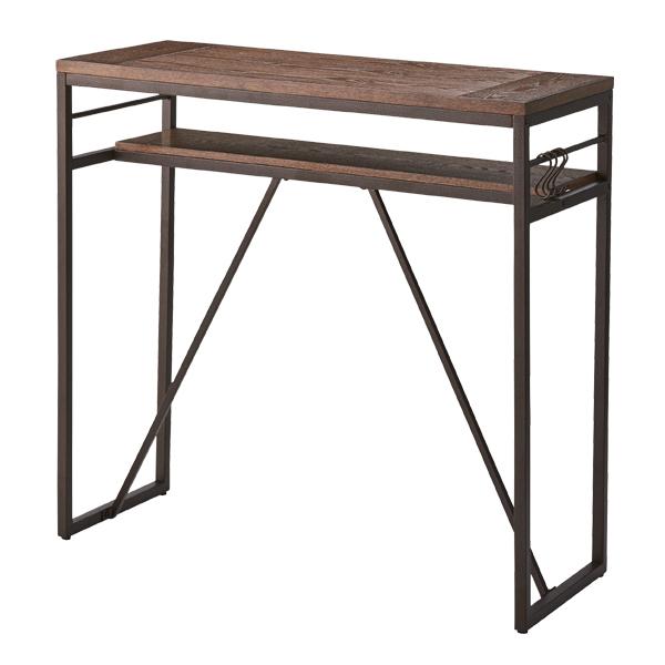 ハイテーブル カウンターテーブル ( 送料無料 カウンター テーブル 木製 机 ダイニングテーブル デスク バーテーブル ハイデスク 天然木 2人用 二人用 ダイニング 2人掛け )