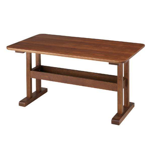 ダイニングテーブル 幅130cm アッシュ材 トラン  ( 送料無料 ダイニング 食卓 テーブル リビングテーブル デスク 天然木 食卓テーブル 収納棚付き リビングダイニング )
