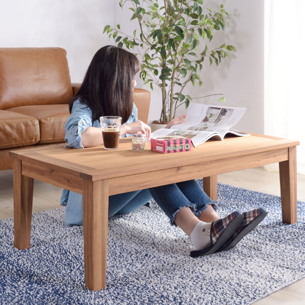 テーブル アルンダ センターテーブル 幅110cm ( 送料無料 コーヒーテーブル ローテーブル 座卓 ちゃぶ台 リビング サイドテーブル 来客机 木製 天然木 アカシア材 ウッドテーブル )