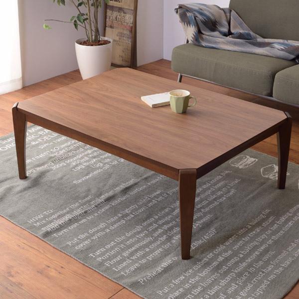 こたつテーブル 幅105cm ( 送料無料 こたつ コタツ 座卓 炬燵 テーブル 木天板 ウォルナット 天然木 センターテーブル 木製 省エネ )