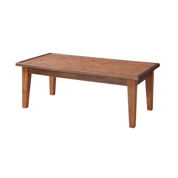 コーヒーテーブル ローテーブル 天然木 ヘリンボーン 幅110cm ( 送料無料 テーブル カフェテーブル カフェ 110cm 110 四角 長方形 木製 おしゃれ シンプル ナチュラル センターテーブル 北欧 木目 天然木製 一人暮らし )
