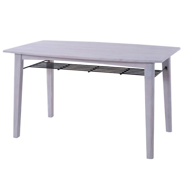 ブリジット ダイニングテーブル ( 送料無料 テーブル 食卓 食卓テーブル 食事机 完成品 天然木 北欧 カフェ レトロ 130cm 130 ホワイト 白 木製 机 おしゃれ )