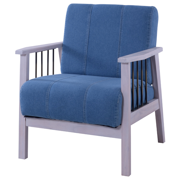 ブリジット 1人掛 ( 送料無料 チェア アームチェアー 天然木 椅子 いす イス 一人かけ 一人用 1人用 肘掛け ホワイト 白 )