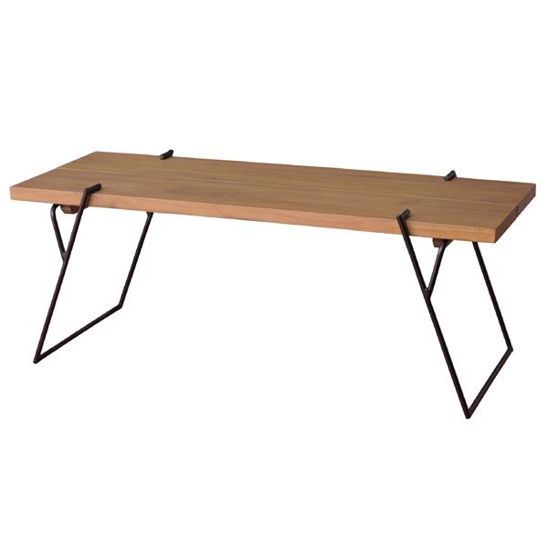 ローテーブル 天然木 センターテーブル アイアンフレーム 幅105cm ( 送料無料 センターテーブル リビングテーブル コーヒーテーブル 木製 ちゃぶ台 アイアン ナチュラル 新生活 スリム 北欧 シンプル おしゃれ )