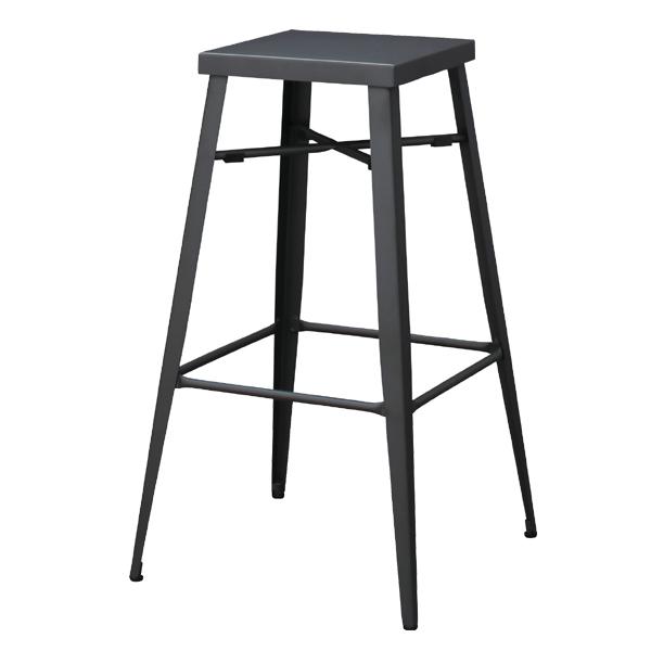 ハイスツール スチール製 スタイリッシュ グラファイト 高さ69cm ( 送料無料 椅子 イス いす チェア チェアー ハイチェア ハイチェア ハイチェアー スチール 70cm 70センチ シンプル おしゃれ モダン 北欧 )