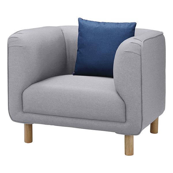 ソファ 1人掛け クッション付 イサック 幅90cm ( 送料無料 ソファー 椅子 イス チェア チェアー ソファチェア リビングチェア 肘付き 一人掛け 1人用 )