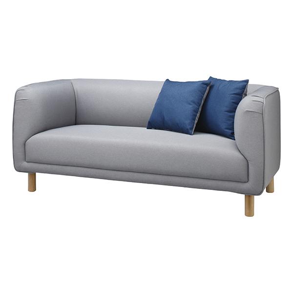 ソファ 2人掛け クッション付 イサック 幅170cm ( 送料無料 ソファー 椅子 イス チェア チェアー ソファチェア リビングチェア 肘付き 二人掛け 2人用 )