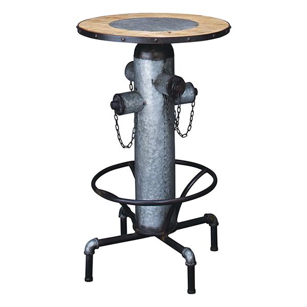 カウンターテーブル 丸型 消火栓風 レトロ調 直径62cm ( 送料無料 テーブル 机 つくえ 木製 サイドテーブル カフェテーブル バーテーブル 杉 丸 円形 )