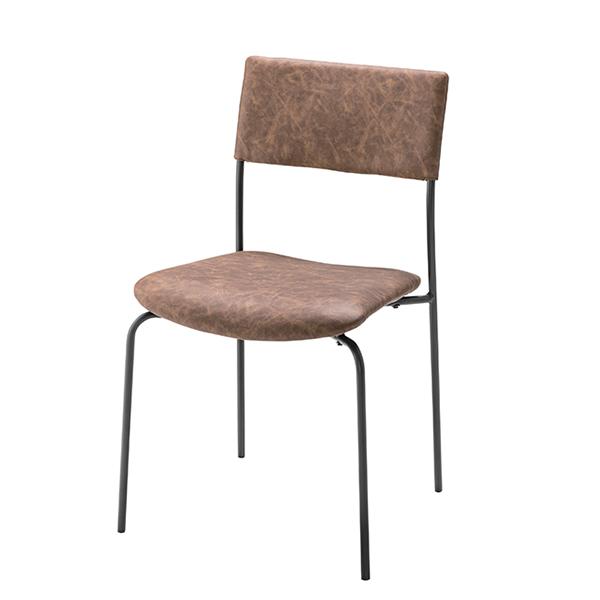チェア アイアンフレーム 椅子 座面高47cm ( 送料無料 イス いす チェア チェアー 完成品 ダイニングチェアー 食卓椅子 リビングチェア )