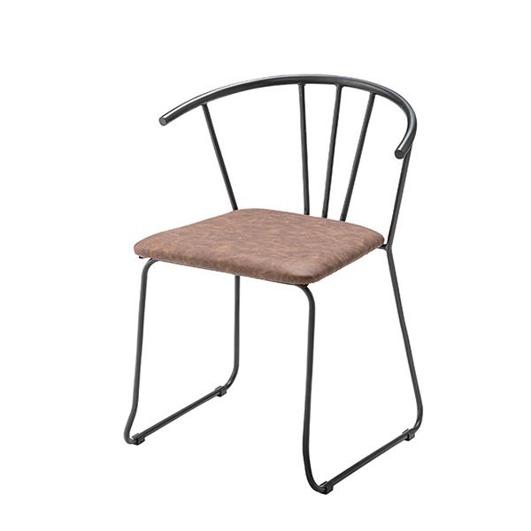 アームチェア アイアンフレーム 椅子 座面高45cm ( 送料無料 イス いす チェア チェアー 完成品 肘置き ダイニングチェアー 食卓椅子 リビングチェア )