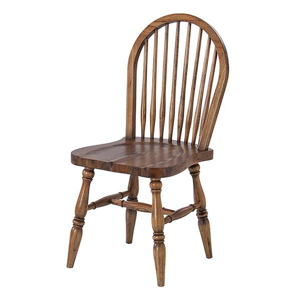 ダイニングチェア 椅子 天然木 ウィンザー調 座面高44cm ( 送料無料 イス いす チェア チェアー 完成品 ダイニングチェアー 食卓椅子 リビングチェア )