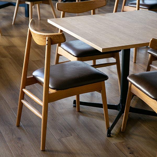 ダイニングチェア 椅子 天然木 本革シート 座面高45cm ( 送料無料 イス いす チェア 完成品 チェアー ダイニングチェアー 食卓椅子 リビングチェア )