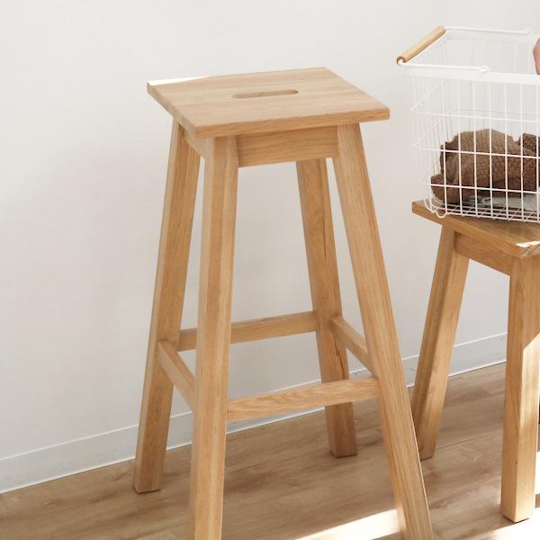 スツール ハイタイプ 角型 天然木 ヘンリー 座面高70cm ( 送料無料 完成品 イス 椅子 いす チェア チェアー ハイチェア ハイチェアー 木製 木製チェア 木製いす カウンターチェア カウンターチェアー )