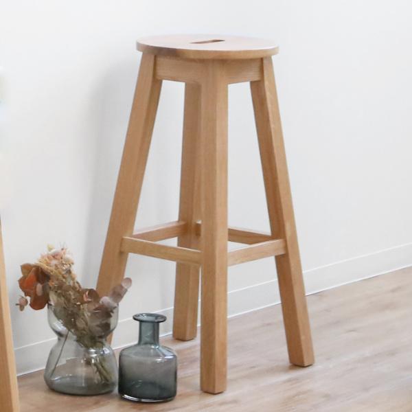 スツール ハイタイプ 円型 天然木 ヘンリー 座面高70cm ( 送料無料 完成品 イス 椅子 いす チェア チェアー ハイチェア ハイチェアー 木製 木製チェア 木製いす カウンターチェア カウンターチェアー )