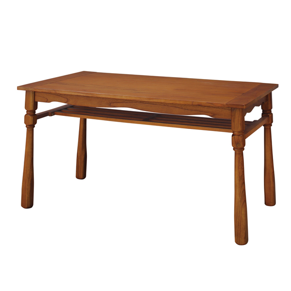 ダイニングテーブル 食卓 天然木 ヴィンテージ調 ヘリオス 幅120cm ( 送料無料 テーブル 机 リビングテーブル カフェテーブル 木製 長方形 ブラウン 茶色 リビング ダイニング )