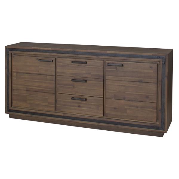 サイドボード リビング収納 天然木 ソリッドデザイン ワイド 幅160cm ( 送料無料 キャビネット 収納棚 リビングボード 本棚 棚 収納 ローボード 開き戸 引き出し リビングキャビネット 木製 完成品 開梱設置 開梱設置無料 )