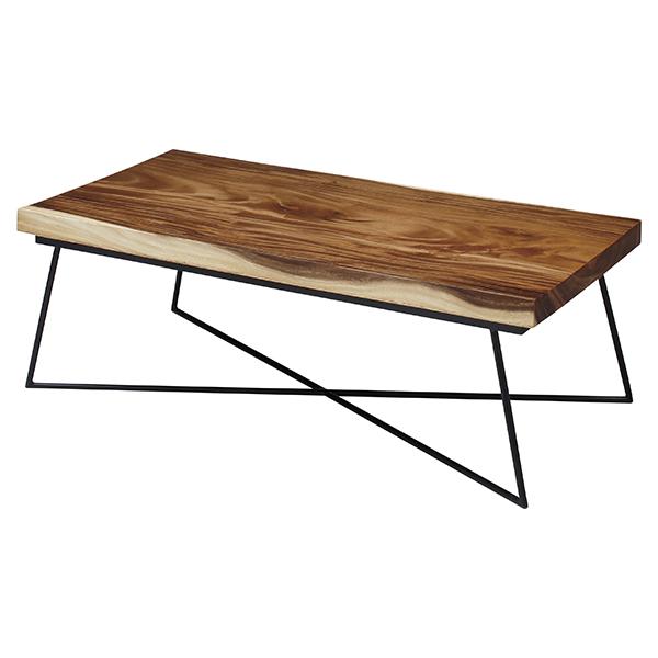 センターテーブル 天然木 ナチュラル 幅120cm ( 送料無料 リビングテーブル ローテーブル 無垢材 無垢 木製 モンキーポッド おしゃれ 木目 木 長方形 テーブル 机 )