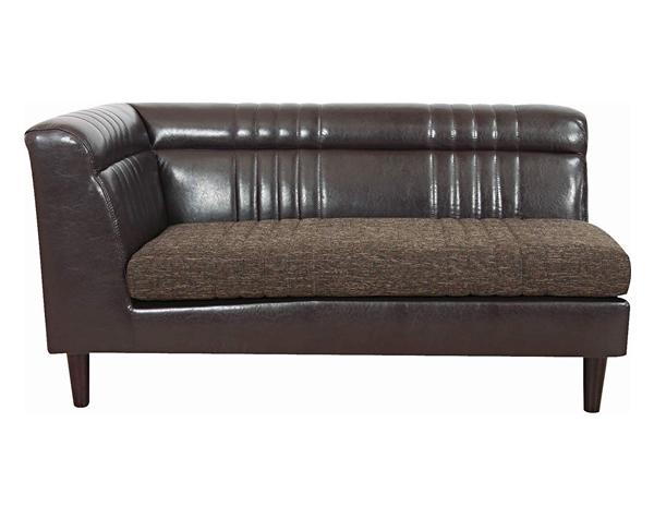 ソファ ナックス 2人掛け 左肘掛け付き ( 送料無料 ソファー 椅子 チェア 完成品 二人掛け レザー調 片肘 コーナーソファ )