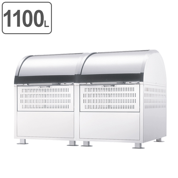 ゴミ箱 ダストステーション 2連結タイプ DST-1100 ( 送料無料 業務用 ごみ箱 屋外 ダストボックス ダストBOX 屋外用 ごみ ゴミ )
